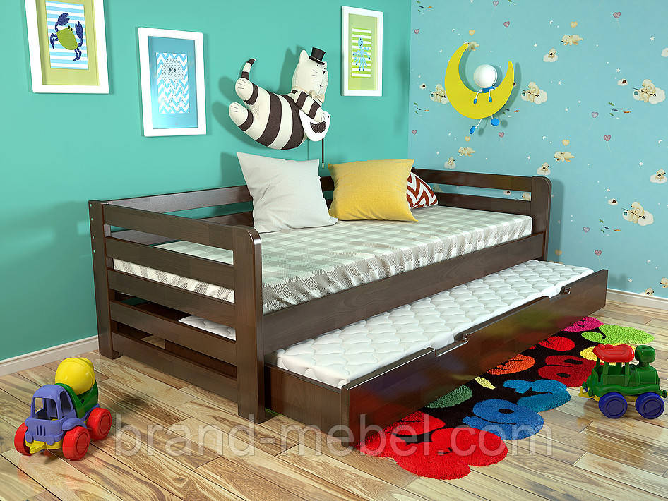 Дитяче дерев'яне ліжко Немо / Детская деревянная кровать Немо