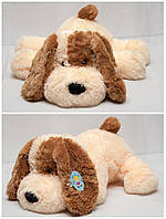 Собака «Шарик» мягкая 75 см белый и персиковый