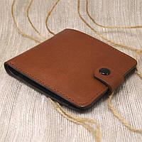 Кожаное портмоне П1-02 (светло-коричневый)
