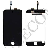 Дисплей iPod Touch 4G с тачскрином в сборе, цвет черный