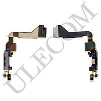 Шлейф для iPhone 4 с разъемом зарядки, цвет черный, копия