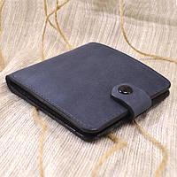 Кожаное портмоне П1-11 (серо-синий)