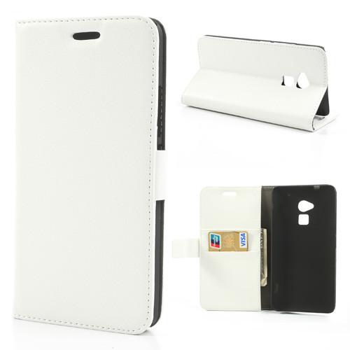 Чехол  HTC ONE MAX книжка боковой с отсеком для визиток Белый