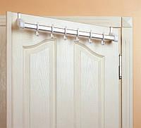 Вешалка для ванны дверная (40 см), 6 крючков