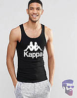 Майка мужская стильная Kappa черная Каппа