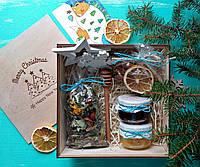 Подарочный набор травяной чай №1. Деревянный BOX New Year