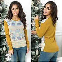 Женский свитер с слонами