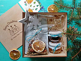 Подарочный набор кофейный №1. Деревянный BOX New Year