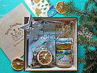 Подарочный набор кофейный №2. Деревянный BOX New Year