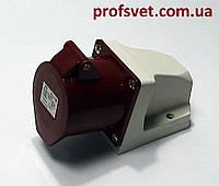 Розетка силовая 32А РС-124 380в 3Р+РЕ 4 полюса, фото 1