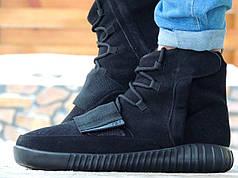 Мужские зимние кеды Adidas YEEZY 750 Boost x Kanye West черные