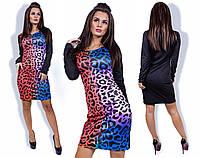 Женское платье с принтом леопард