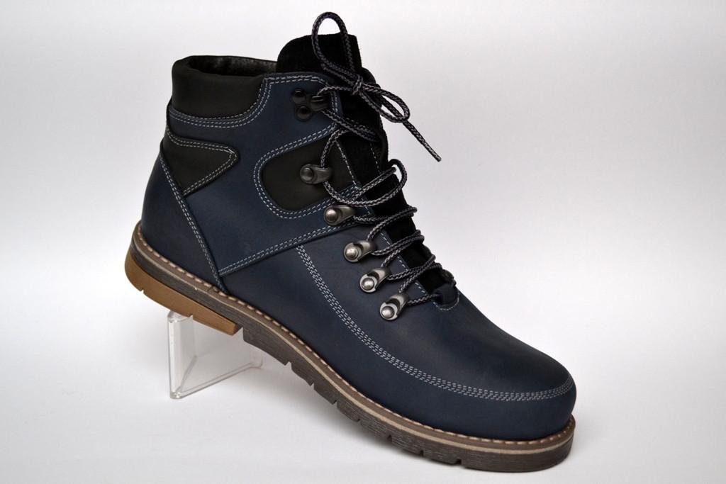 Большой размер синие зимние мужские ботинки Rosso Avangard Major Payne BS Street Blu кожаные