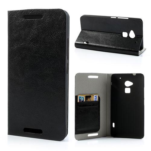 Чехол на HTC ONE MAX книжка боковой с отсеком для визиток, PREMIUM черный