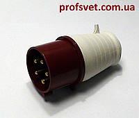 Вилка силовая 32А 5 штырей (3Р+РЕ+N) 380в IP44 РС-025