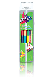"""Олівці кольорові двосторонні """"MARCO"""" Grip-Rite (12 шт/24 кольори) 9101-12CB"""