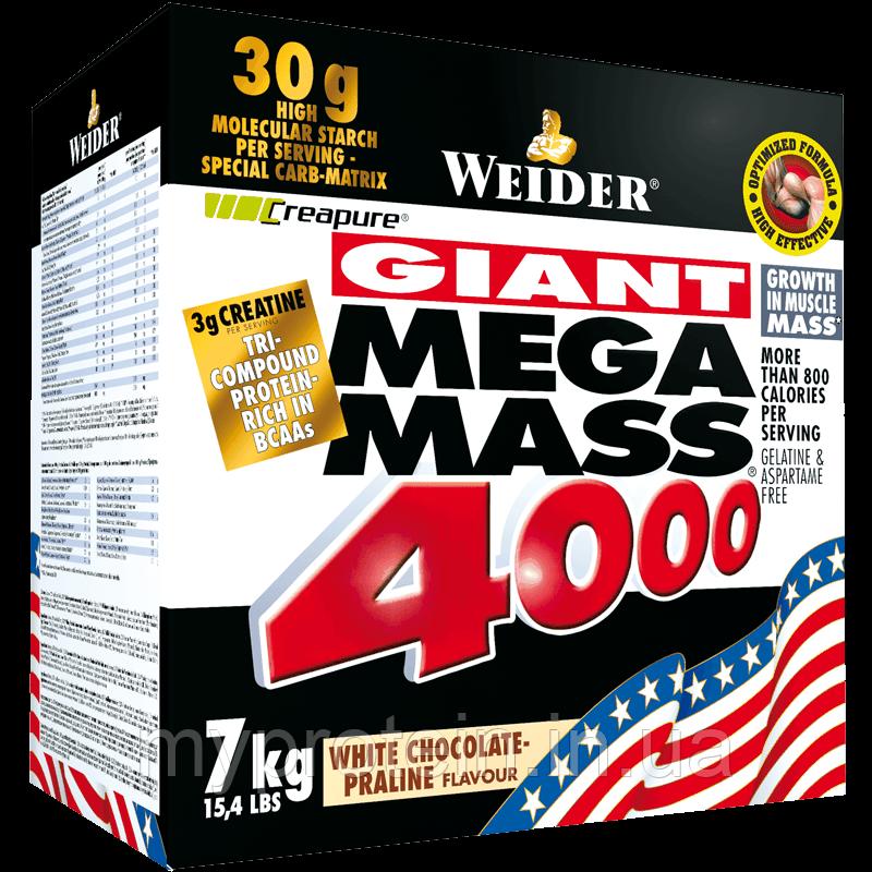 Weider Гейнер Мега масс Mega Mass 4000 (7 kg )