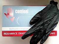 Перчатки нитриловые неопудренные Comfeеl черные