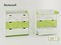 Детский комод-пеленатор Oris-mebel, три ящика на телескопических направляющих (цвета в ассортименте)