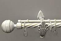 Карниз для штор двухрядный металлический 25 мм, Длина 160 см (комплект) РЕТРО