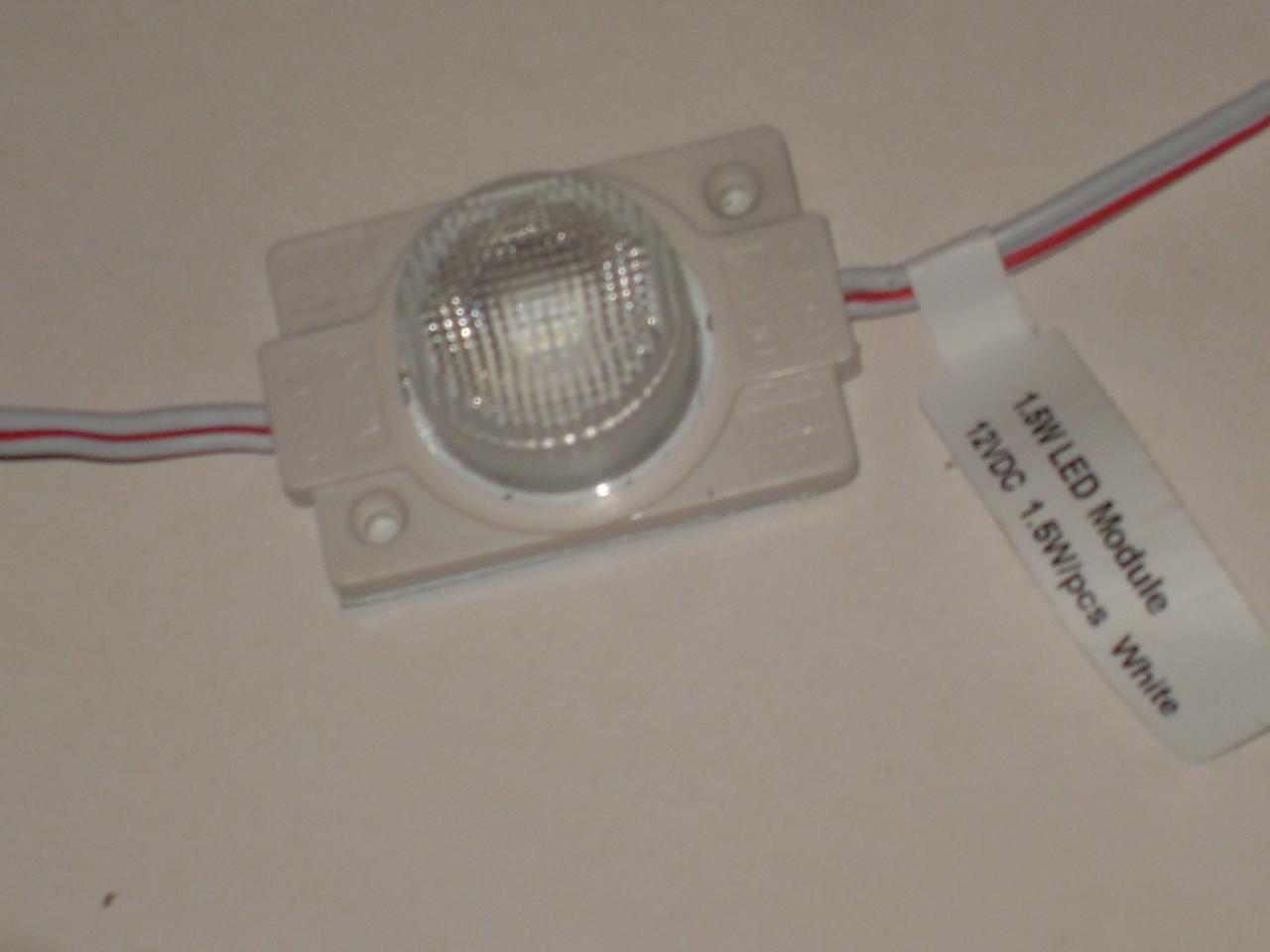 Світлодіодний модуль 1.32Вт 12вольт 6500К кут 10ºх60º кластер для торцевої підсвітки лайтбоксів