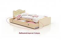 """Кровать"""" Цветы жизни"""" 70х140 см + ящик на 3 секции ,ваниль+венге светлый"""