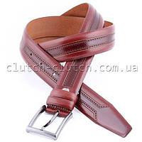 Ремень для брюк красно-коричневый LMi 35 мм с перфорацией