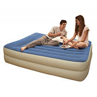 Кровать велюр INTEX 67714 152-203-47см, встроенный насос