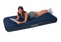 Надувной матрас (кровать) велюр INTEX 68950 синий