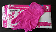 Перчатки нитриловые неопудренные розовые Essenti Care