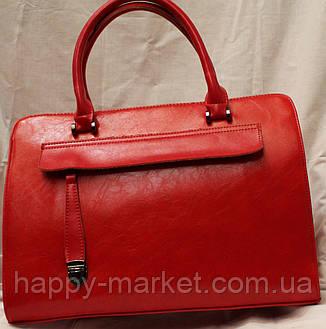 Сумка женская классическая 1301-1 красная, фото 2
