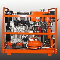 Мобильная маслостанция.Мобильная гидростанция для установок прокола грунта.Базовая серия HS-1D190