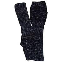 Вязаные рукавички - митенки черно - меланжевого цвета