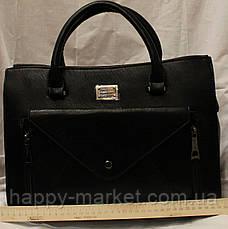 Сумка женская классическая 1301-3 черный , фото 3