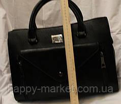 Сумка женская классическая 1301-3 черный , фото 2