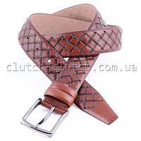 Ремень для брюк коричневый LMi 35 мм плетеный
