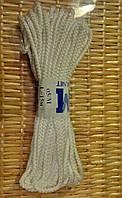 Шнур полипропиленовый мягкий белый 5мм 15м