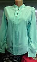 Блуза со стойкой и планкой