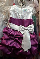Нарядное детское атласное платье Тортик