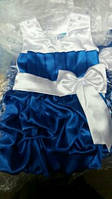 Атласное детское платье Тортик