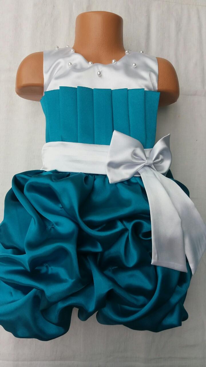 Детское нарядное атласное платье Тортик