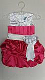 Детское нарядное атласное платье Тортик , фото 4
