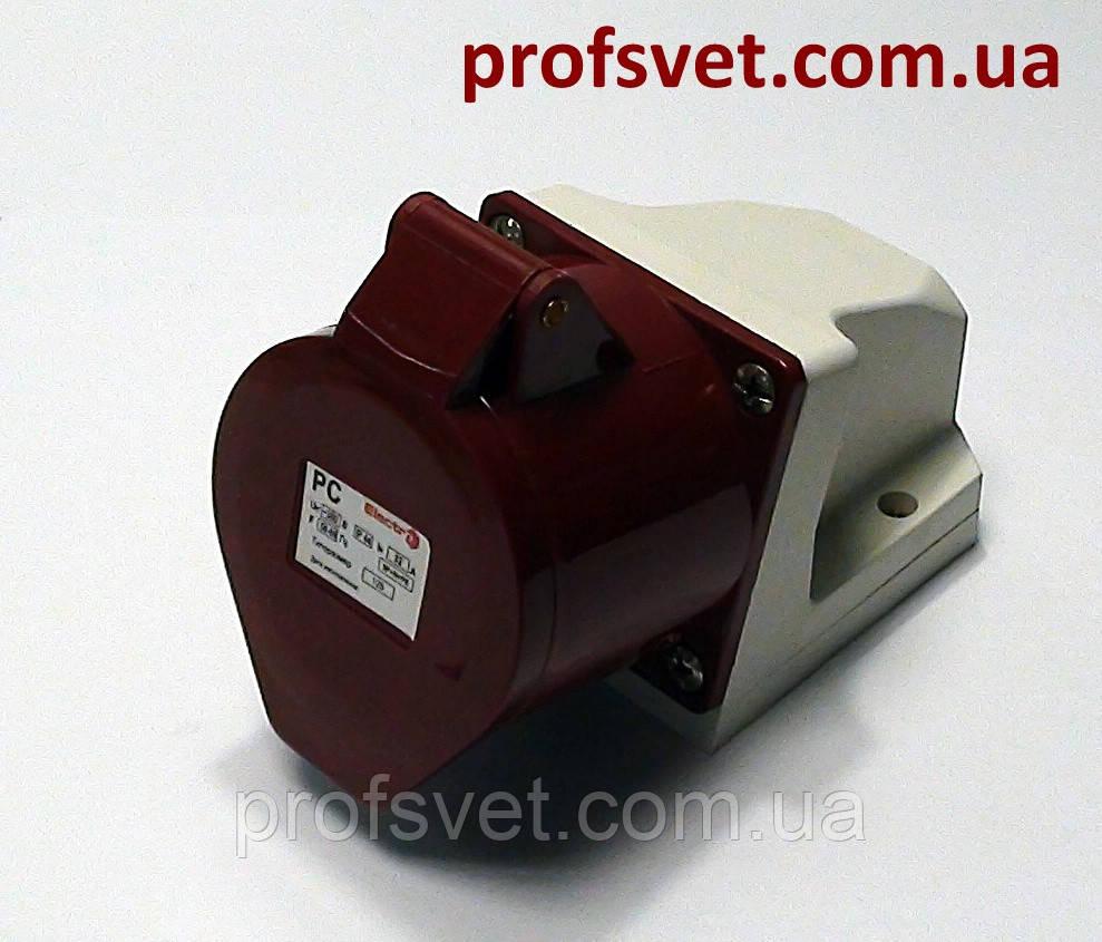 Розетка силовая 32А РС-125 380в 3Р+РЕ+N IP44