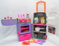 Кухня 3 в 1 раковина+печка+холодильник+чемоданчик на колесиках 9911