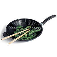 Сковорода-вок с решеткой-гриль и деревянными палочками Risoli