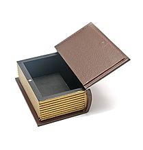 Шкатулка деревянная в виде книги-сейфа