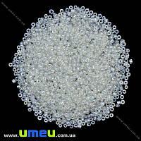 Бисер мелкий, 12/0, Белый глазурированый, 2 мм, 25 г. (BIS-018303)