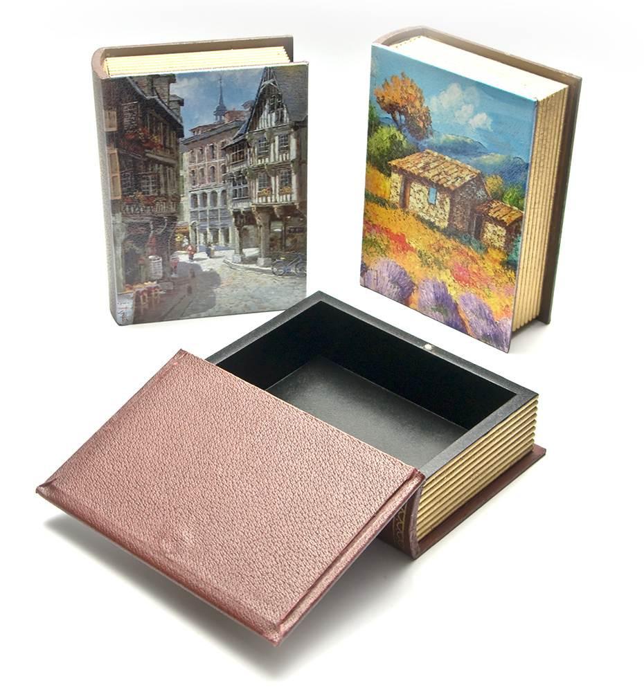 Шкатулка декупаж деревянная Книга
