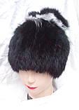 """Меховая шапка """"конфетка"""" (кролик+чернобурка), фото 4"""
