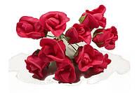 Роза искусственная красная (букет) 1792 1-6-1